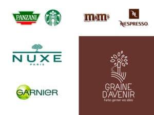 Logo dans les coouleurs marrons et verts