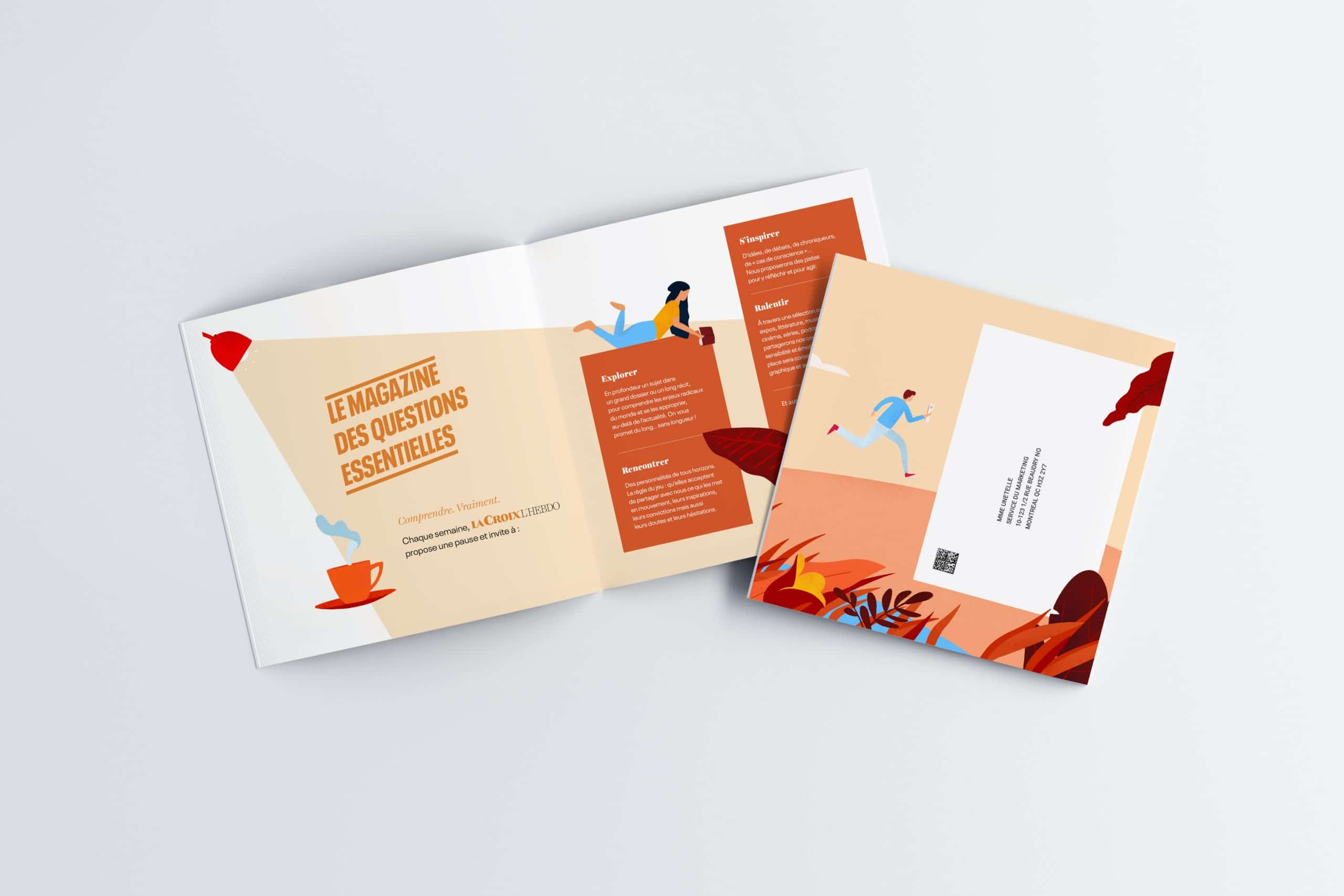 Brochure avec illustration (interieur brochure)
