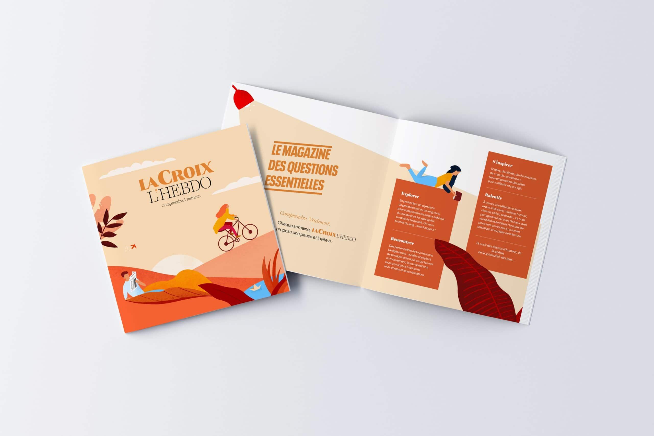 Brochure livre avec illustrations