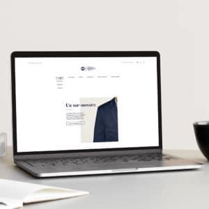 Mockup de la homepage du site Les Francs Tireurs