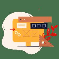 pictogramme ordinateur et outils de travail