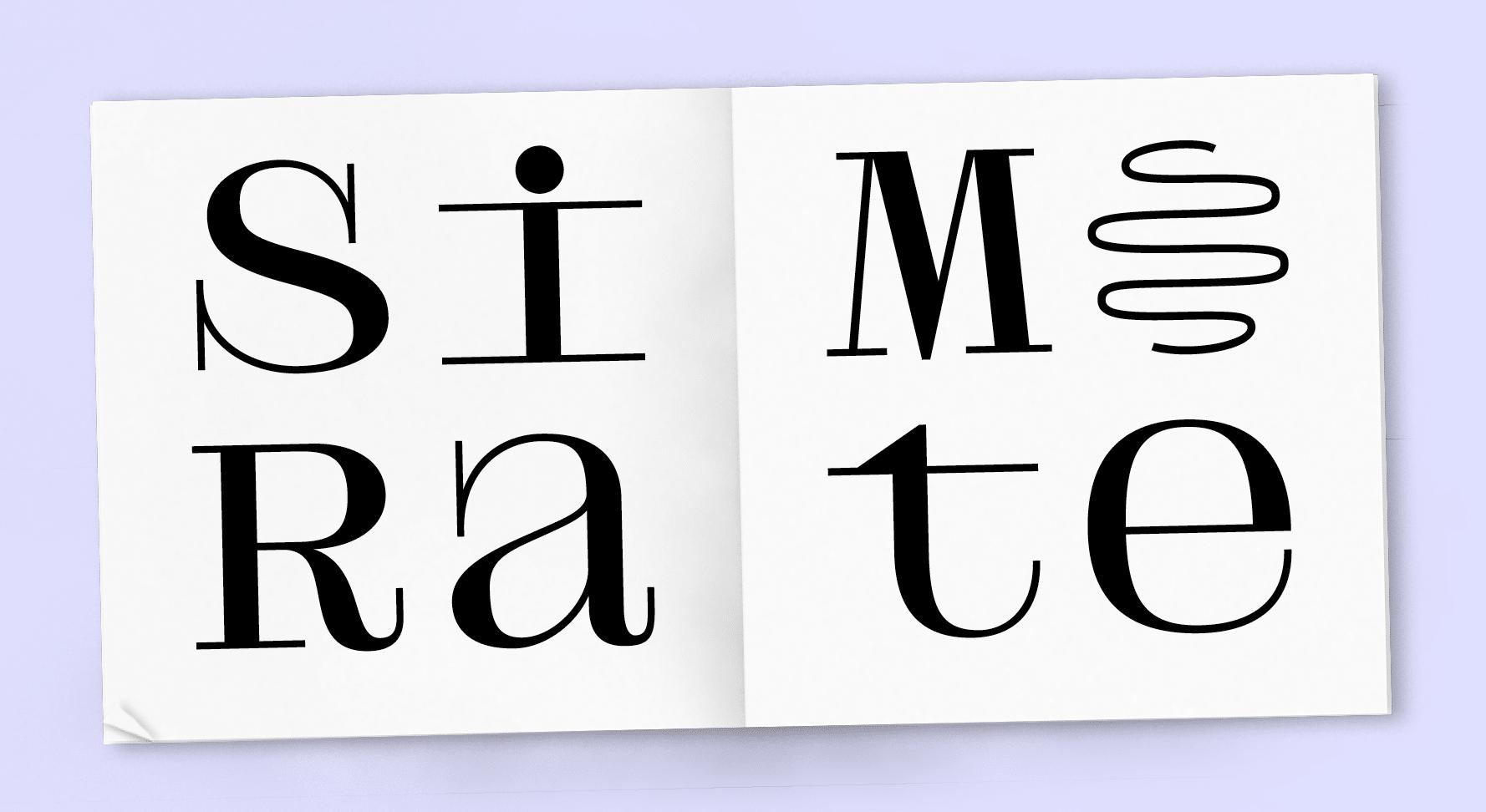 zoom livre blanc avec huit caractères en très grand noir posé sur un fond violet